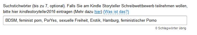 Stichwörter-Abfrage im Amazon KDP-Programm