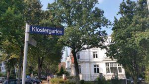 Straßenschild Klostergarten