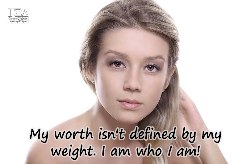 My worth isn't defined by my weight. I am who I am.